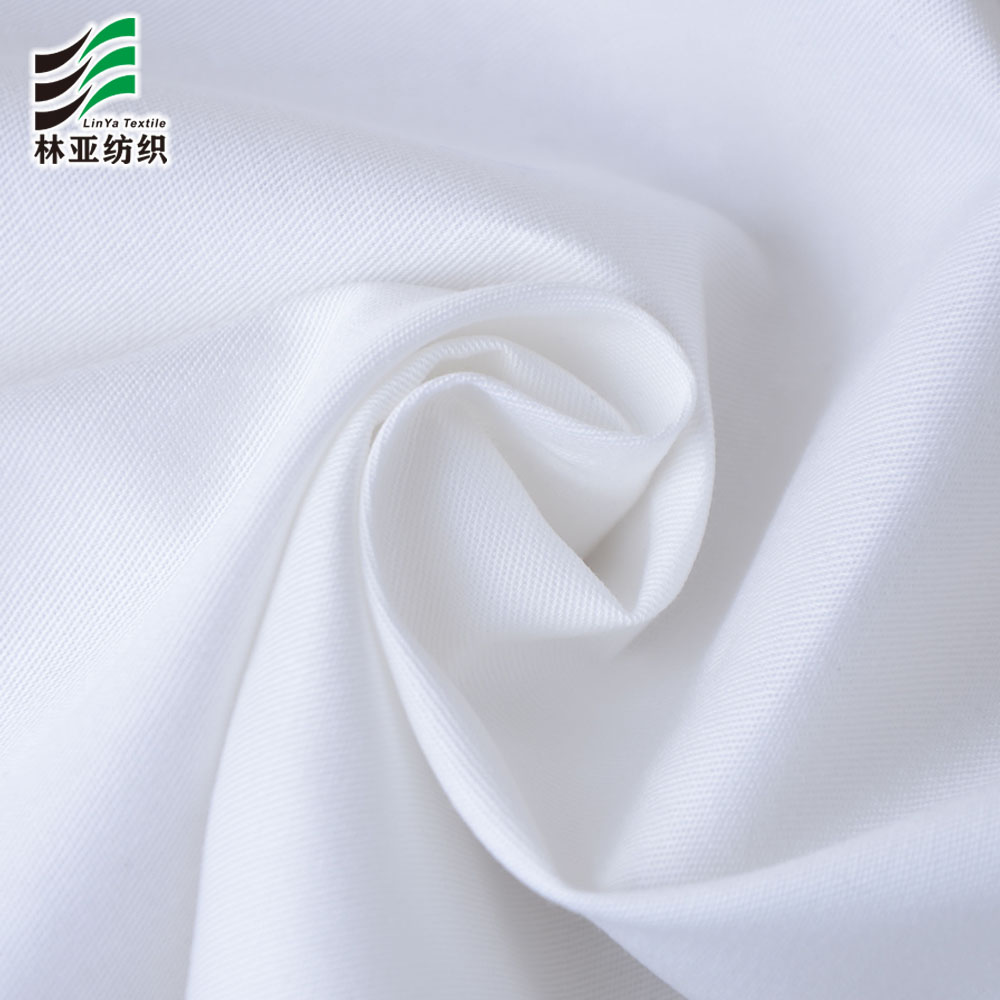 32*32/130*70 100 cotton high quality bleached white twill fabric in stock for garment