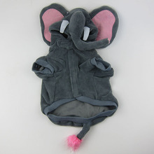 Funny Elephant animals shape heated dog sports clothes