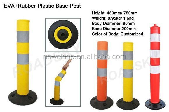 750mm PU Spring Back Flexible Warning plastic bollard flexible bollard