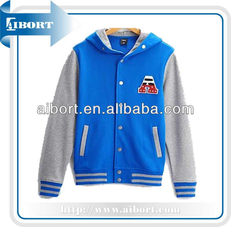 blue and white varsity jackets
