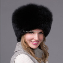 Natural Color Wholesale Fashion Fox Fur Custom Russian Winter Hat