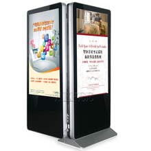 55 inch free standing lcd advertising dual screen interactive advertising lcd equipment