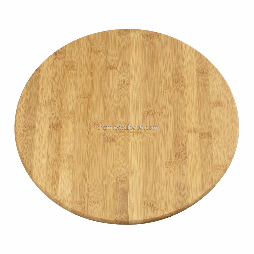 Wholesale Round Bamboo Cutting Board Eco-friendly Pizza Serving Tray