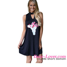 Floral Keyhole Front Casual Tank Dress Girls Dress Names With Pictures