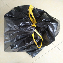Colored customized garbage bags drawstring trash bags on roll draw tape bag