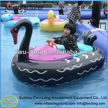 New design cartoon swan design cheap pvc inflatable boats china for slae