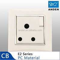 PC Material White Color Electric 15 Amp Socket