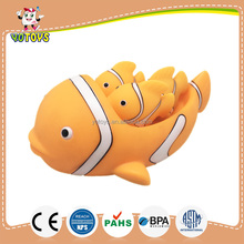 fish family baby soft toys, mom & kids bath toy by chinese supplier
