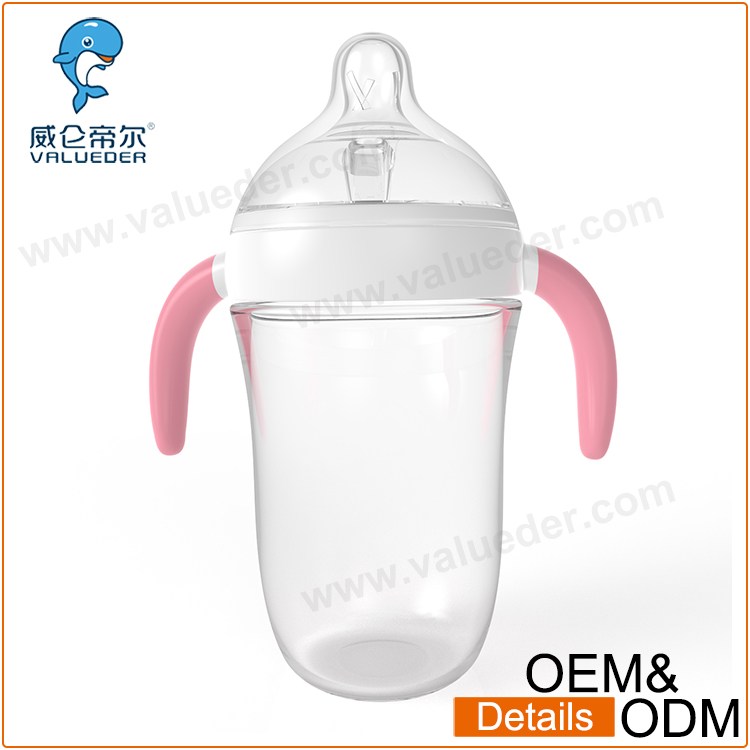 Baby Care Baby borosilicate Glass Nursing Bottle with Protecting Holders
