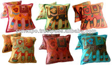 50 Handcrafted Applique Patchwork Indian Elephant Pillow Cushion Covers wholesale lot