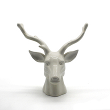 White handmade polyresin deer head statues