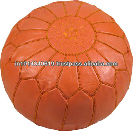 moroccan pouf ottoman footstool