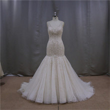 A-Line Lace real sample wedding and evening dress