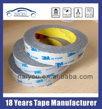 3M 1600T Double Sided Self PE foam Adhesive 3m Tape For Auto