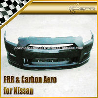 For Nissan R35 11-13 GTR OEM Style Fiber Glass Front Bumper with Carbon Front Lip & Undertray