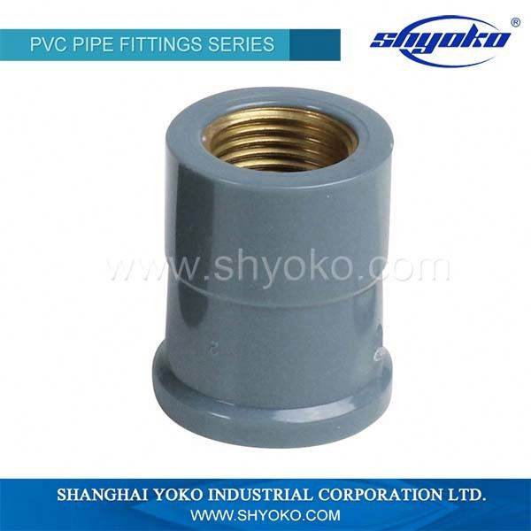 Dark grey color 32mm PVC Female Adapter DIN STANDARD PN10 PVC Pipe Fitting