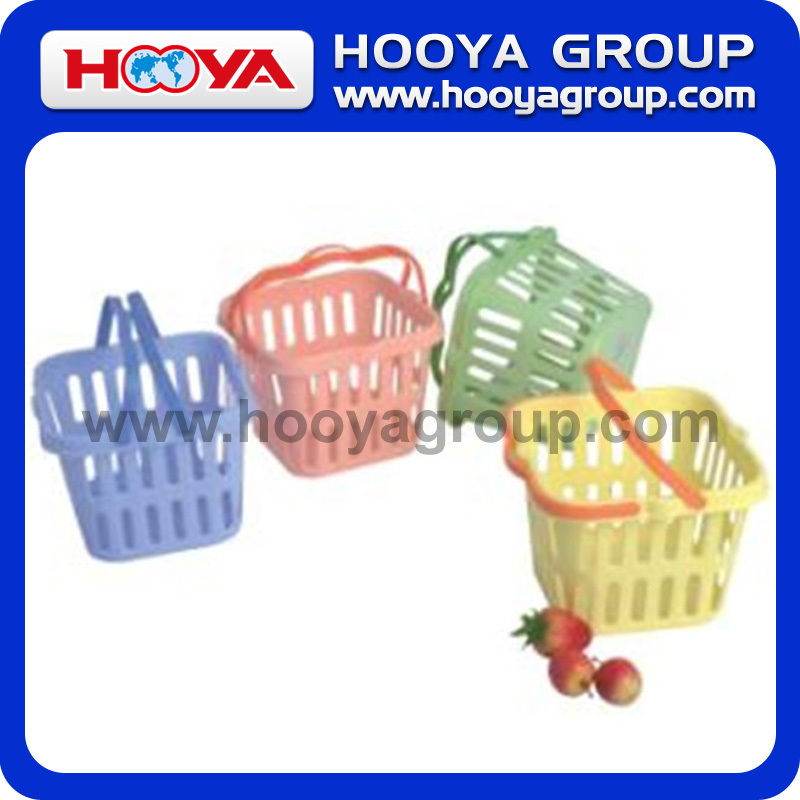 Small Size Rectangular Plastic Basket With Handle
