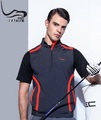 Custom sport golf Men's short sleeve polyester/spandex polo shirt