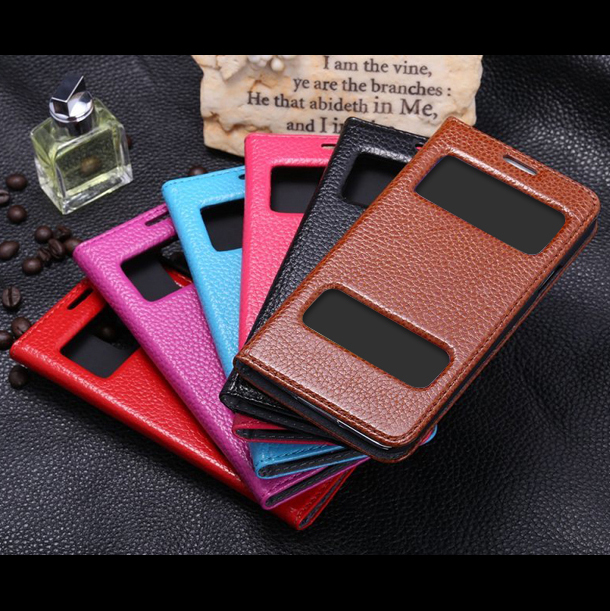 factory price leather flip case for samsung galaxy s5, for samsung galaxy s5 cell phone cover case