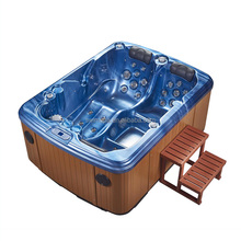 2 seat 1 lounger family massage bathtub