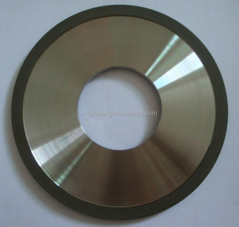 Resin diamond cutting wheel for abrasive tungsten carbide