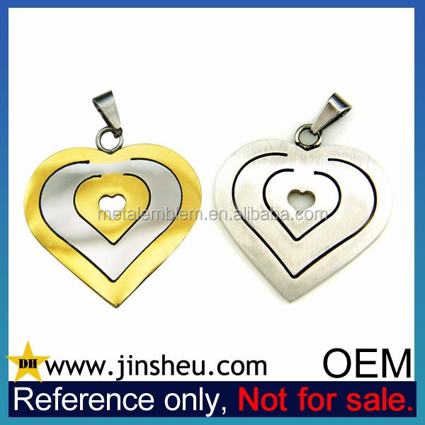 Alibaba China Supplier OEM Manufacture Custom Metal Heart Pendant