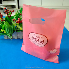Gift Die Cut Handle Pouch PE Plastic Poly Bag