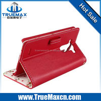 Whole sales China phone case supplier for Wallet Leather flip case for lg g3