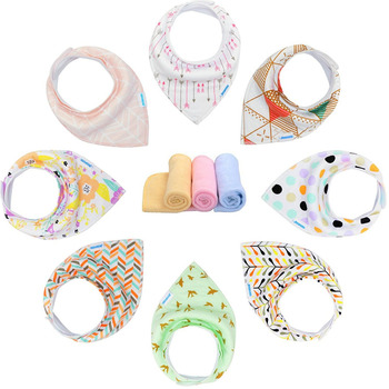 Manufacturer Wholesale High Quality New Design Custom baby bandana bibs with logo