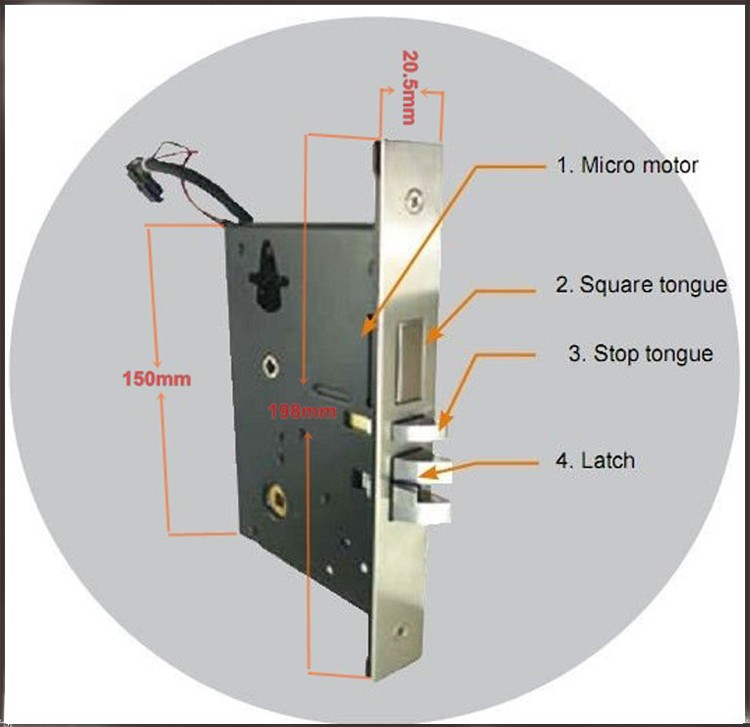 Electronic RFID Keyless Card Hotel Door Lock with free access software