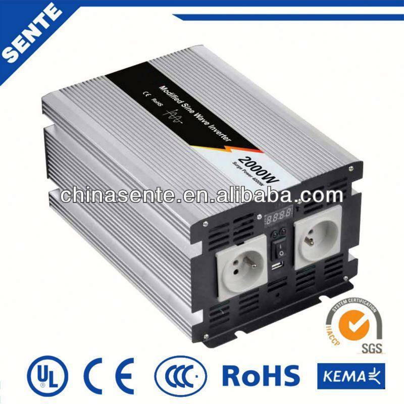 Top quality 2000w offline ups inverter 12vdc 220vac for home use