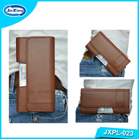OEM Custom Belt Handy Leather Phone Case for Samsung Galaxy Note 3
