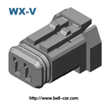 3 way automotive pbt electrical wires connectors 7283-1130-30