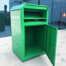 Assemble 1000L Galvanized Sheet Clothing Recycling Bins For Donation