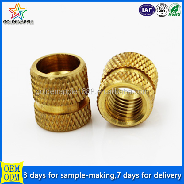 Brass pipe fitting insert nut