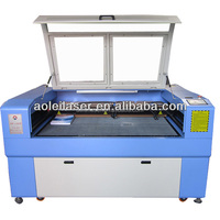 AOL-1290 high speed 80W mobile phone and tablet PC laser engraving machine with 2 laser heads