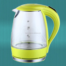 Wine wide mouth yellow kettle with glass material