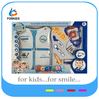 kids playing doctor stories play set,plastic role play doctor toys for dress up game