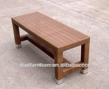 wicker bench outdoor patio garden bench