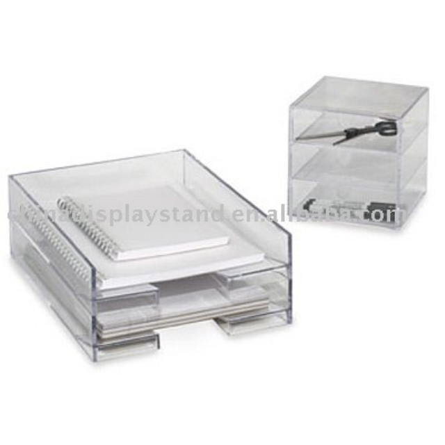 Clear Acrylic Desk Accessories/ Documents Display/ Documents Organizer