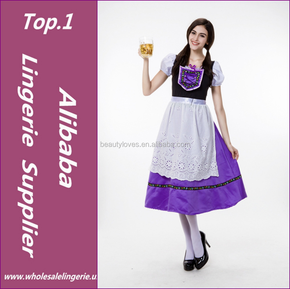 beautiful short sleeve sexy beer girl costume