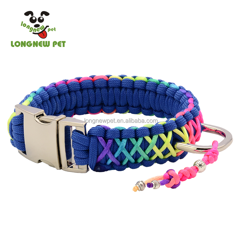 Good Quality Dog Collars Rainbow Color Beautiful Dog Collar For Every <strong>Pet</strong>