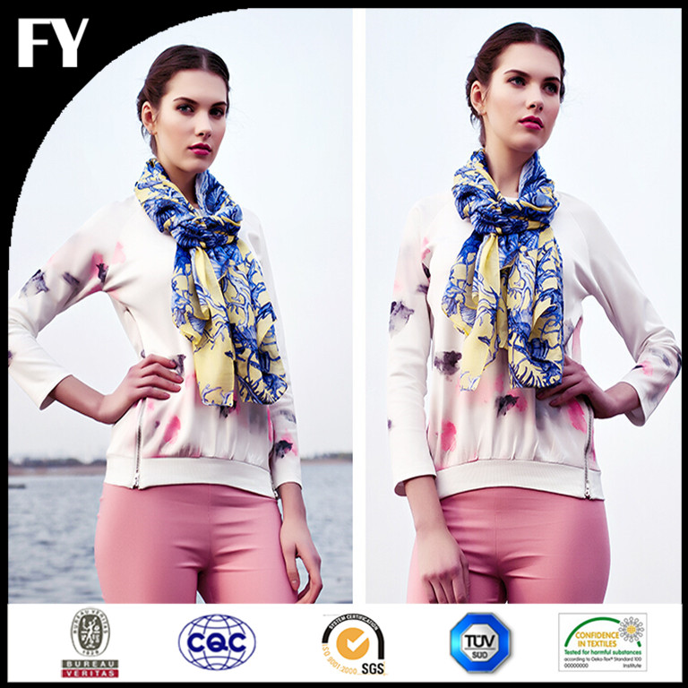 factory customize 100 silk material digital printed turkish square scarf wholesale