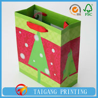 wood free paper bag 4-color printing silver glossy glitter process