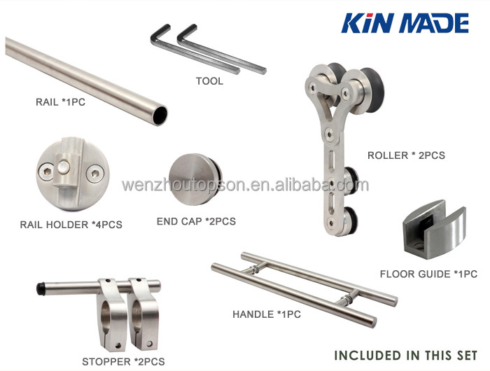Morden Barn Door Hardware For Glass Doors-Sliding Door System