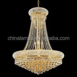 First choice for the mansion and villa interior decoration of the big crystal chandelier lamp