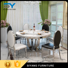 China Good modern cream colored dining room table and chairs for home use