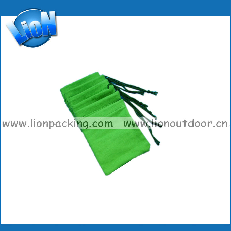 Colorful Soft suede Pouches Draw strings with logo printing for Jewelry Gift Packaging