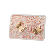 Gold Butterfly Pink 3D Pop Up Creative Laser Cut Wedding Invitations Card Suite