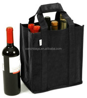 promotional advertisement non woven wine bag